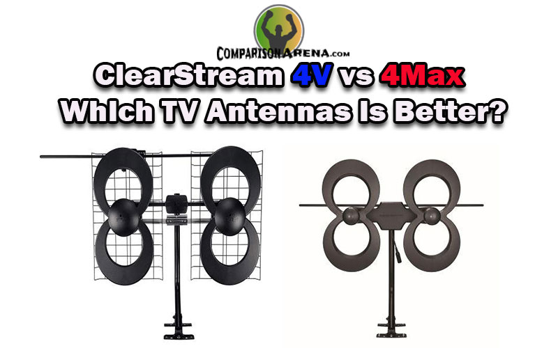 Mast w//Pivoting Base//Hardware//Adjustable Clamp//Sealing Pads Indoor 4K Ready Multi-directional UFH//VHF Attic 70+ Mile Range Black Outdoor Antennas Direct ClearStream 4MAX TV Antenna C4MVJ