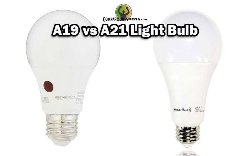 A19 vs A21 Light Bulb